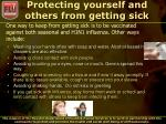 protecting yourself and others from getting sick