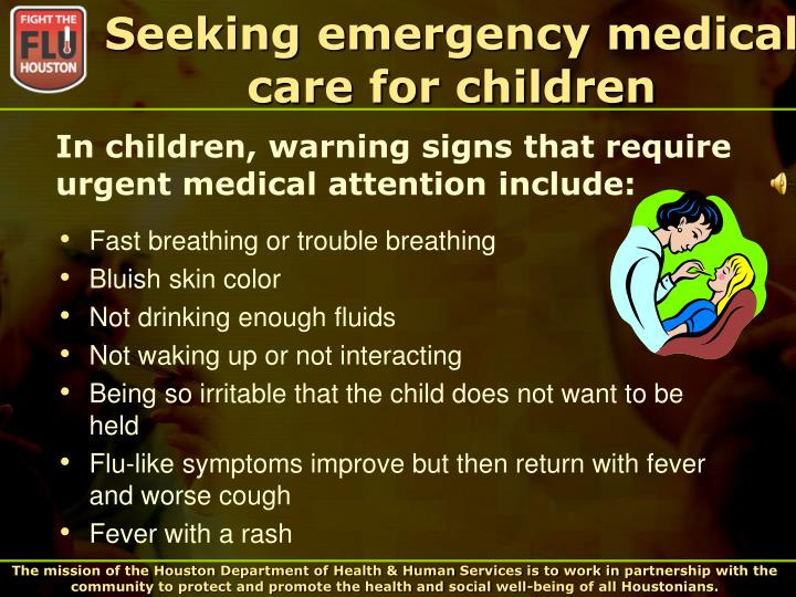 Seeking emergency medical care for children