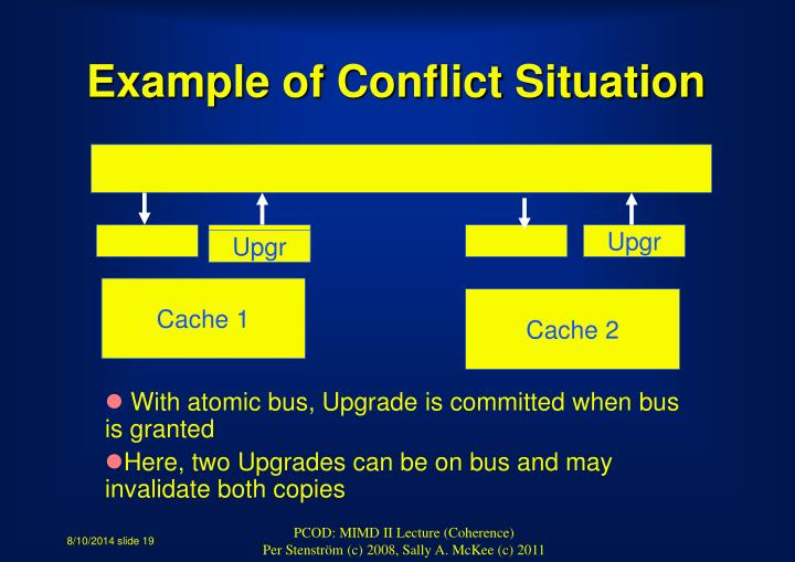 Example of Conflict Situation