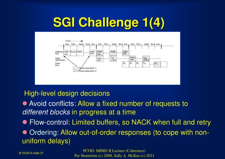 SGI Challenge 1(