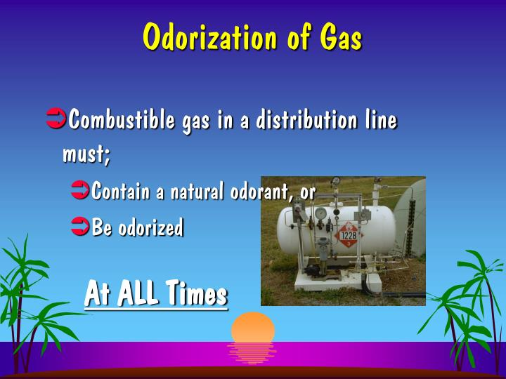 Odorization of gas