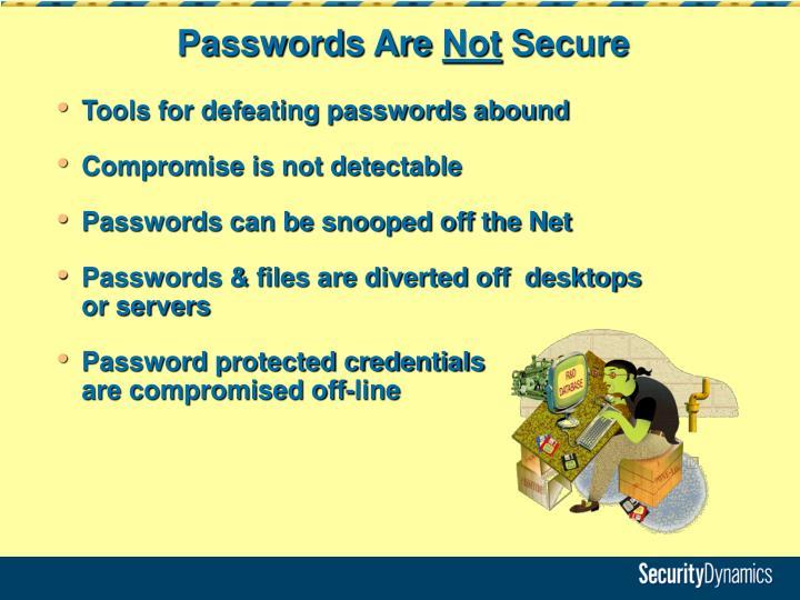 Passwords Are