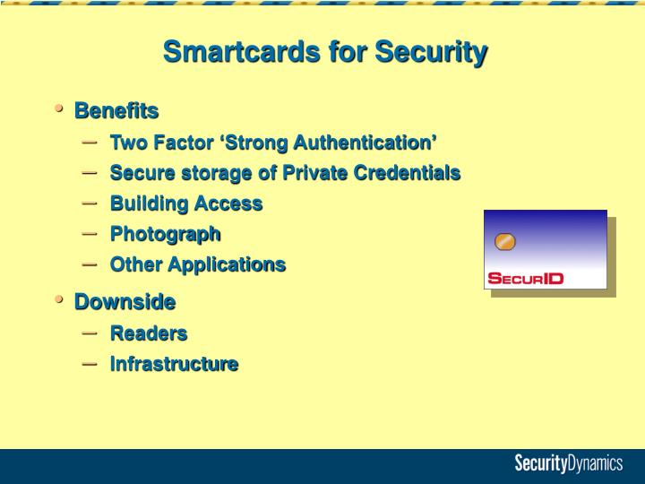 Smartcards for Security