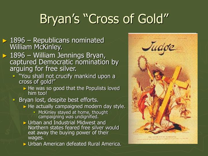 "Bryan's ""Cross of Gold"""