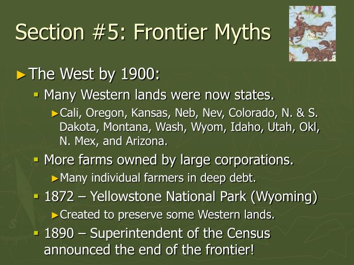 Section #5: Frontier Myths