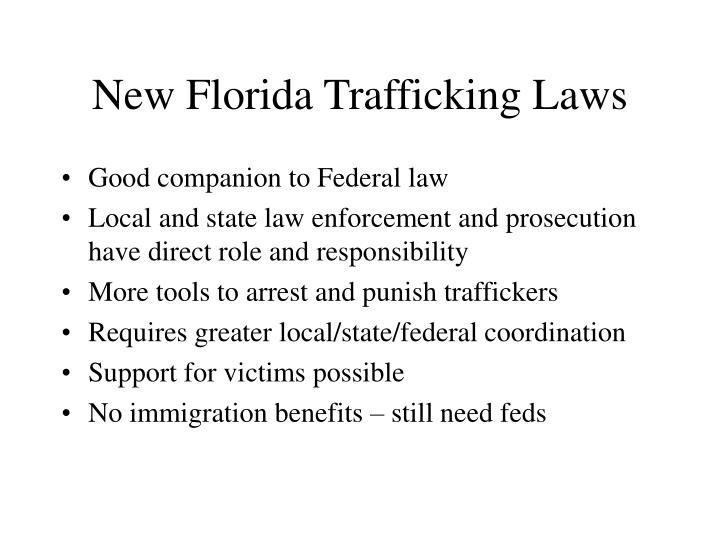 New Florida Trafficking Laws