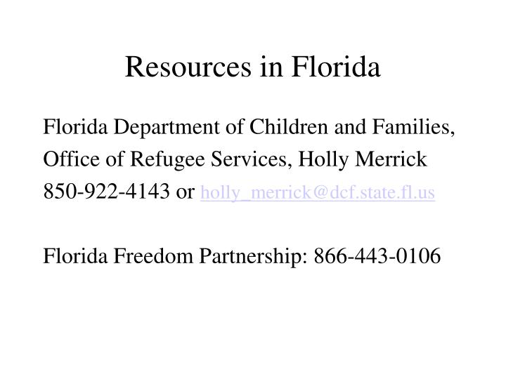 Resources in Florida