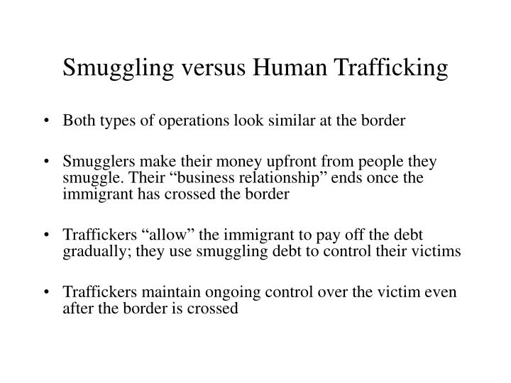 Smuggling versus Human Trafficking
