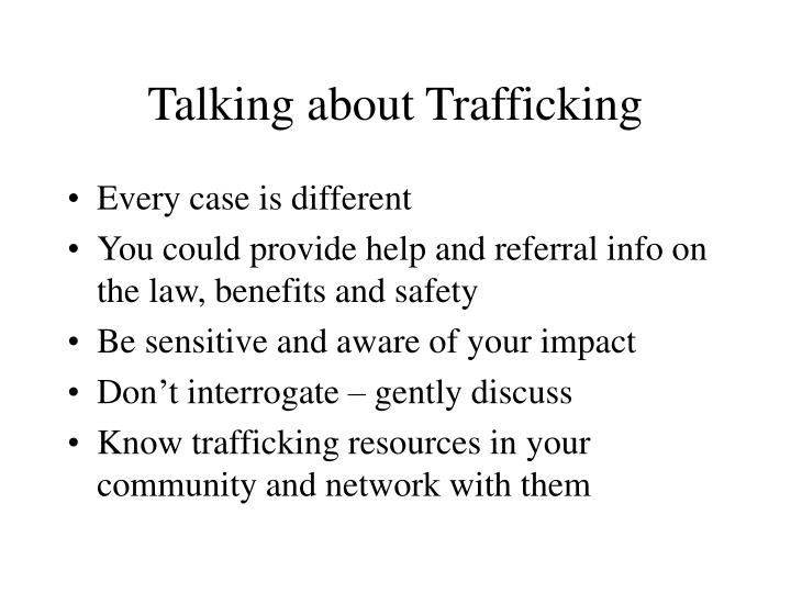 Talking about Trafficking