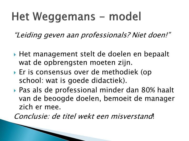 Het Weggemans - model