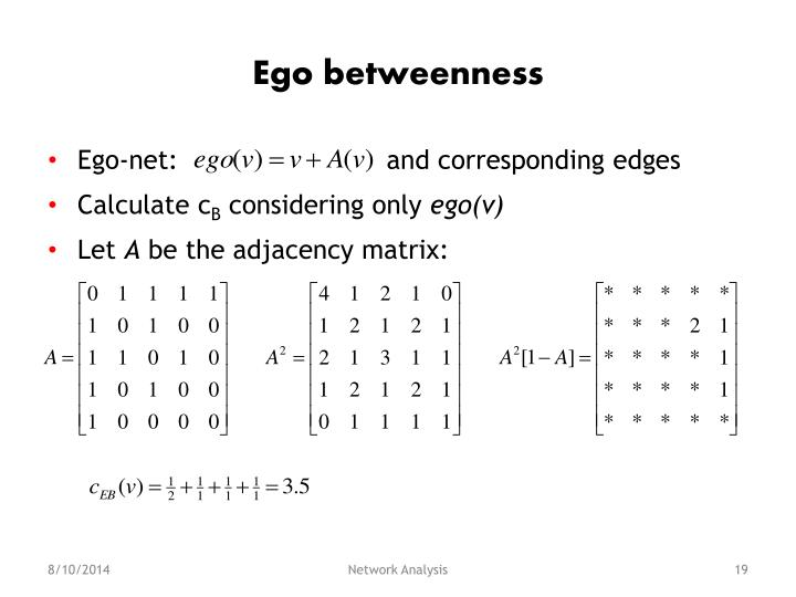 Ego betweenness