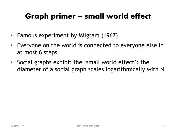 Graph primer – small world effect