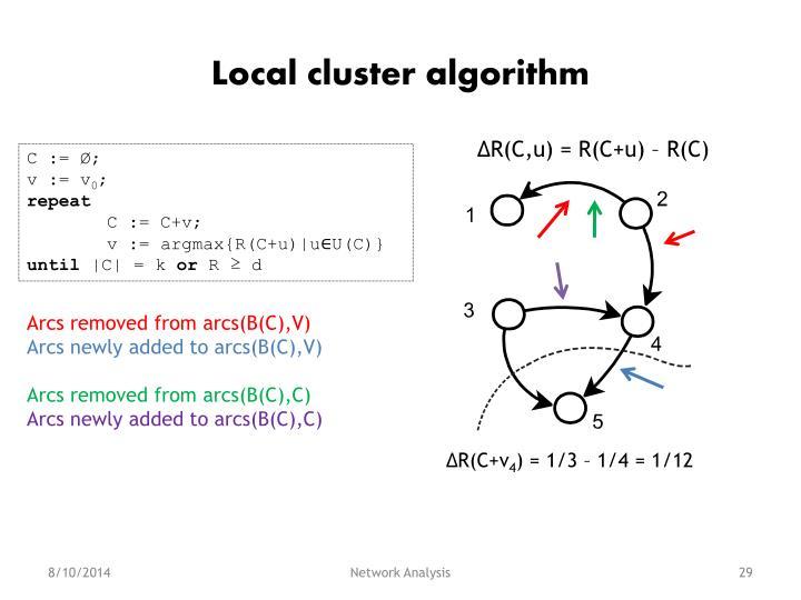Local cluster algorithm