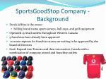 sportsgoodstop company background