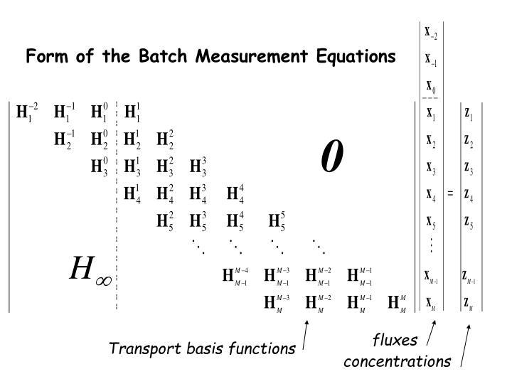 Form of the Batch Measurement Equations