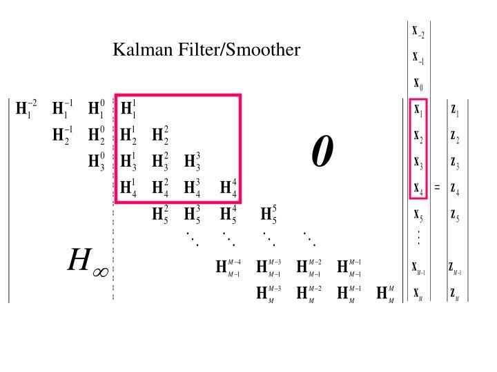 Kalman Filter/Smoother