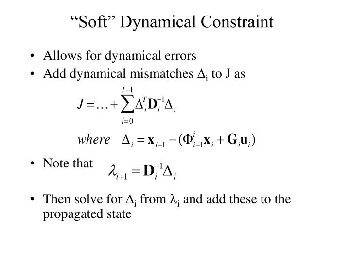 Allows for dynamical errors