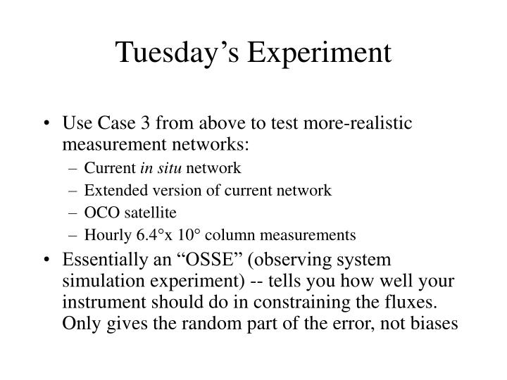 Use Case 3 from above to test more-realistic measurement networks: