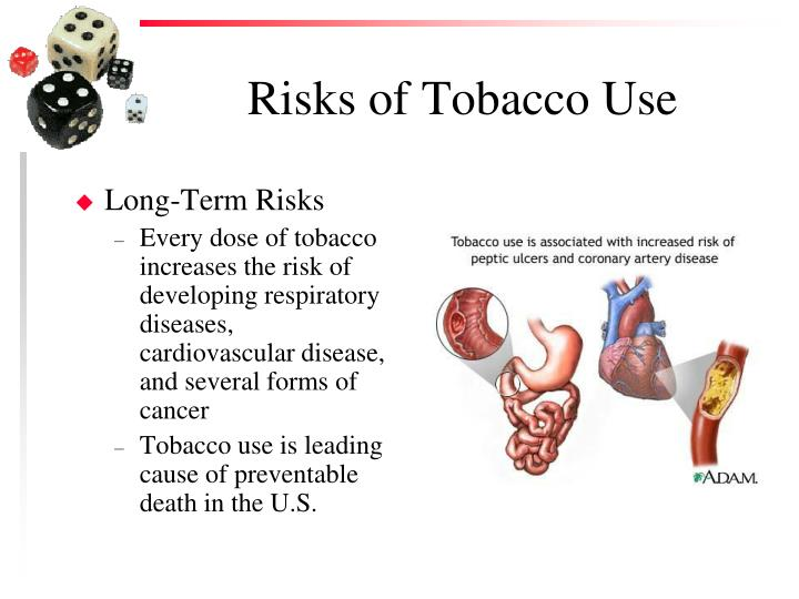 Risks of tobacco use2