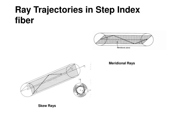 Ray Trajectories in Step Index fiber