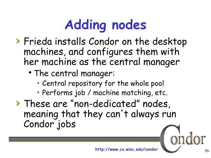 Adding nodes