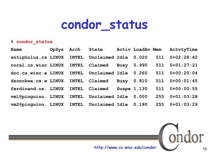 condor_status