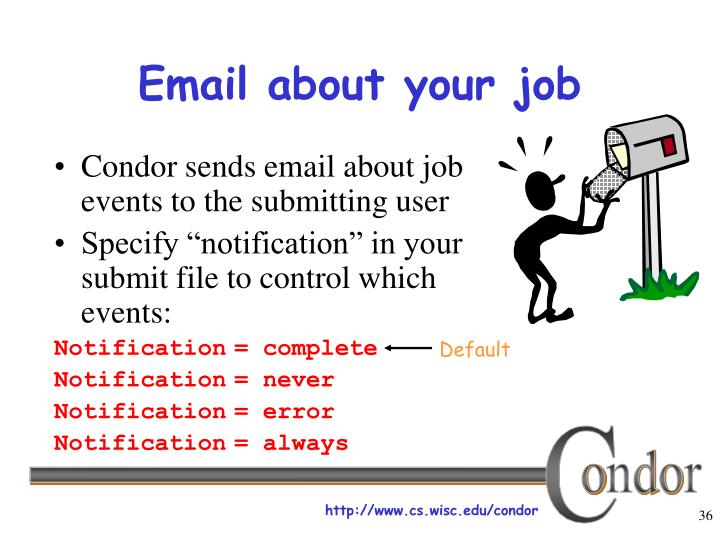Email about your job