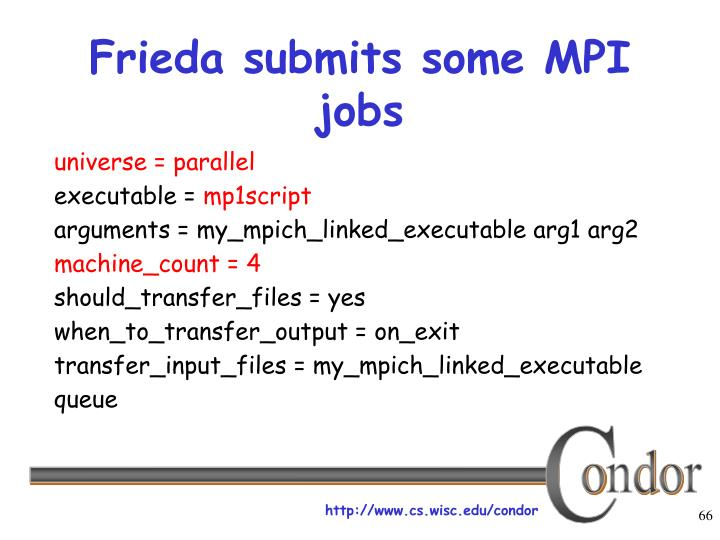 Frieda submits some MPI jobs