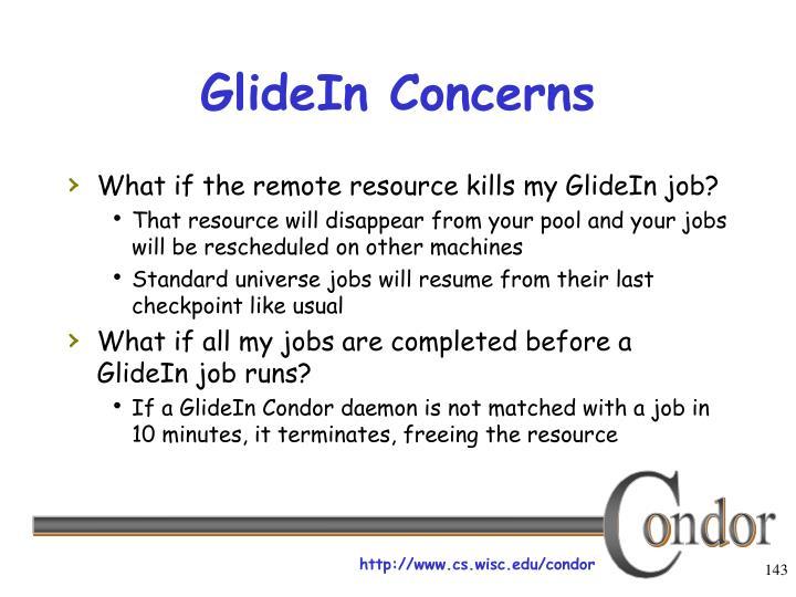 GlideIn Concerns