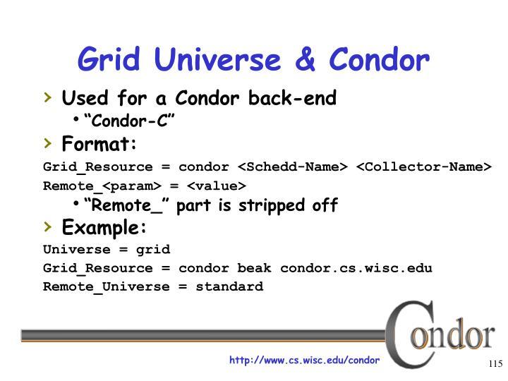 Grid Universe & Condor