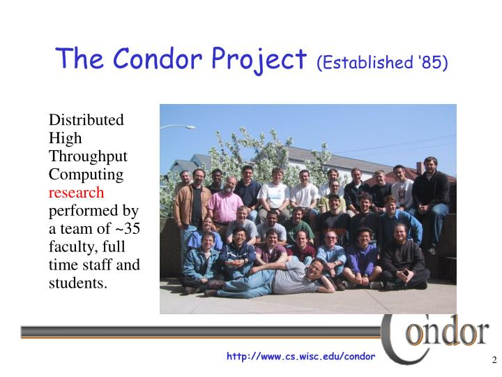 The condor project established 85