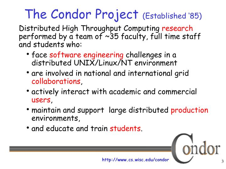 The condor project established 851