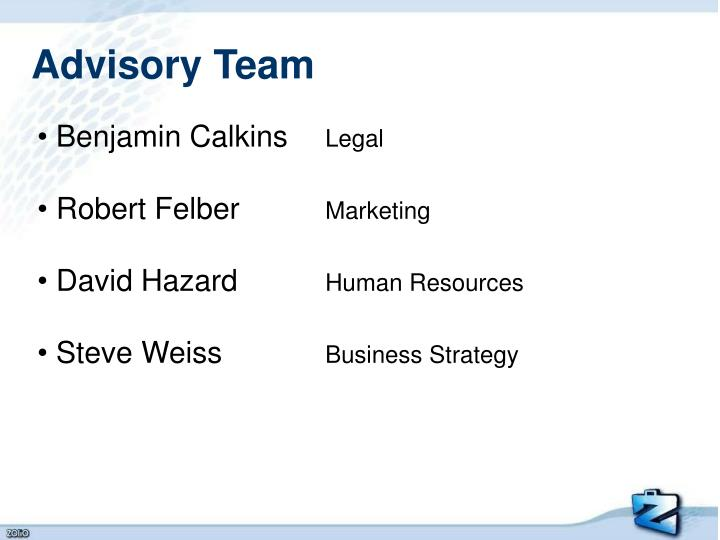 Advisory Team