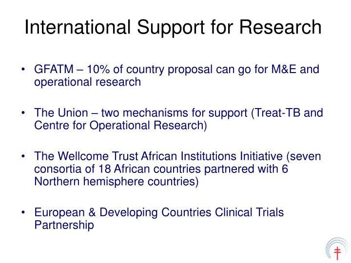 International Support for Research