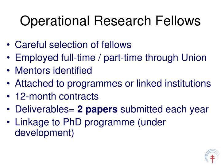 Operational Research Fellows