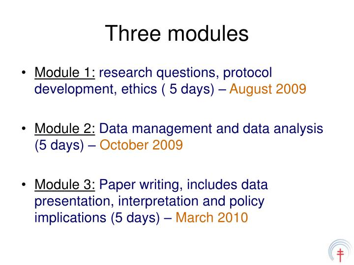 Three modules