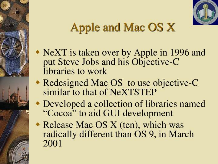 Apple and Mac OS X