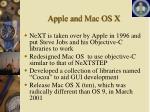 apple and mac os x