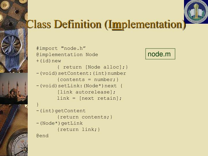 Class Definition (I