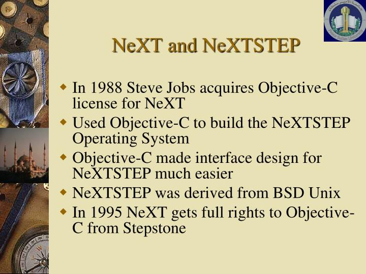 NeXT and NeXTSTEP