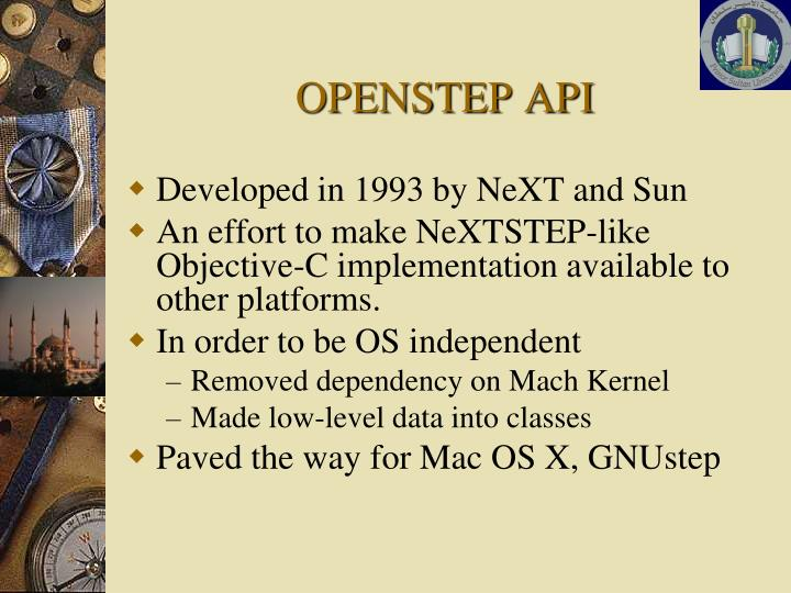 OPENSTEP API