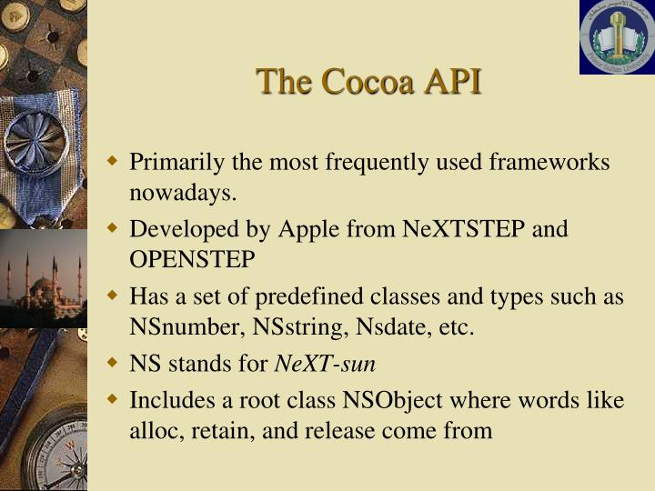 The Cocoa API