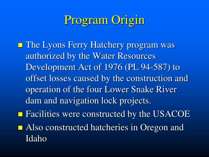 Program Origin