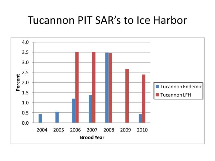 Tucannon PIT SAR's to Ice Harbor