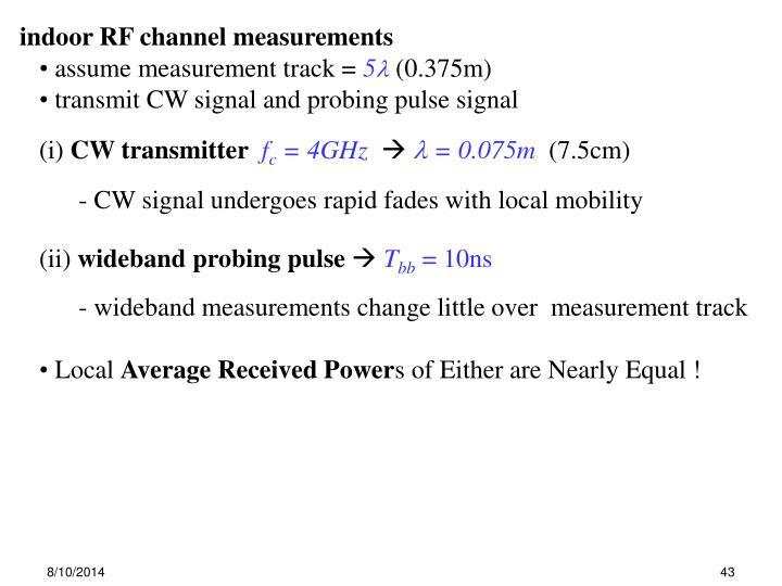 indoor RF channel measurements