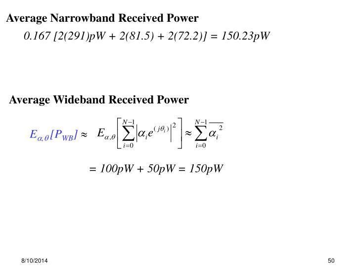 Average Wideband Received Power