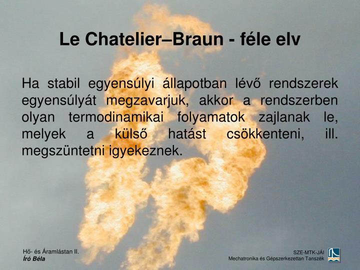 Le Chatelier–Braun - féle elv