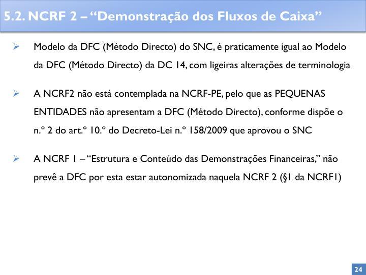 Modelo da DFC (Método Directo) do SNC, é praticamente igual ao Modelo da DFC (Método Directo) da DC 14, com ligeiras alterações de terminologia