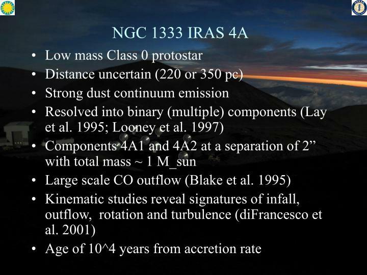 NGC 1333 IRAS 4A