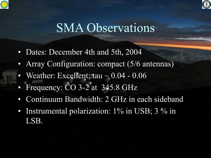 SMA Observations